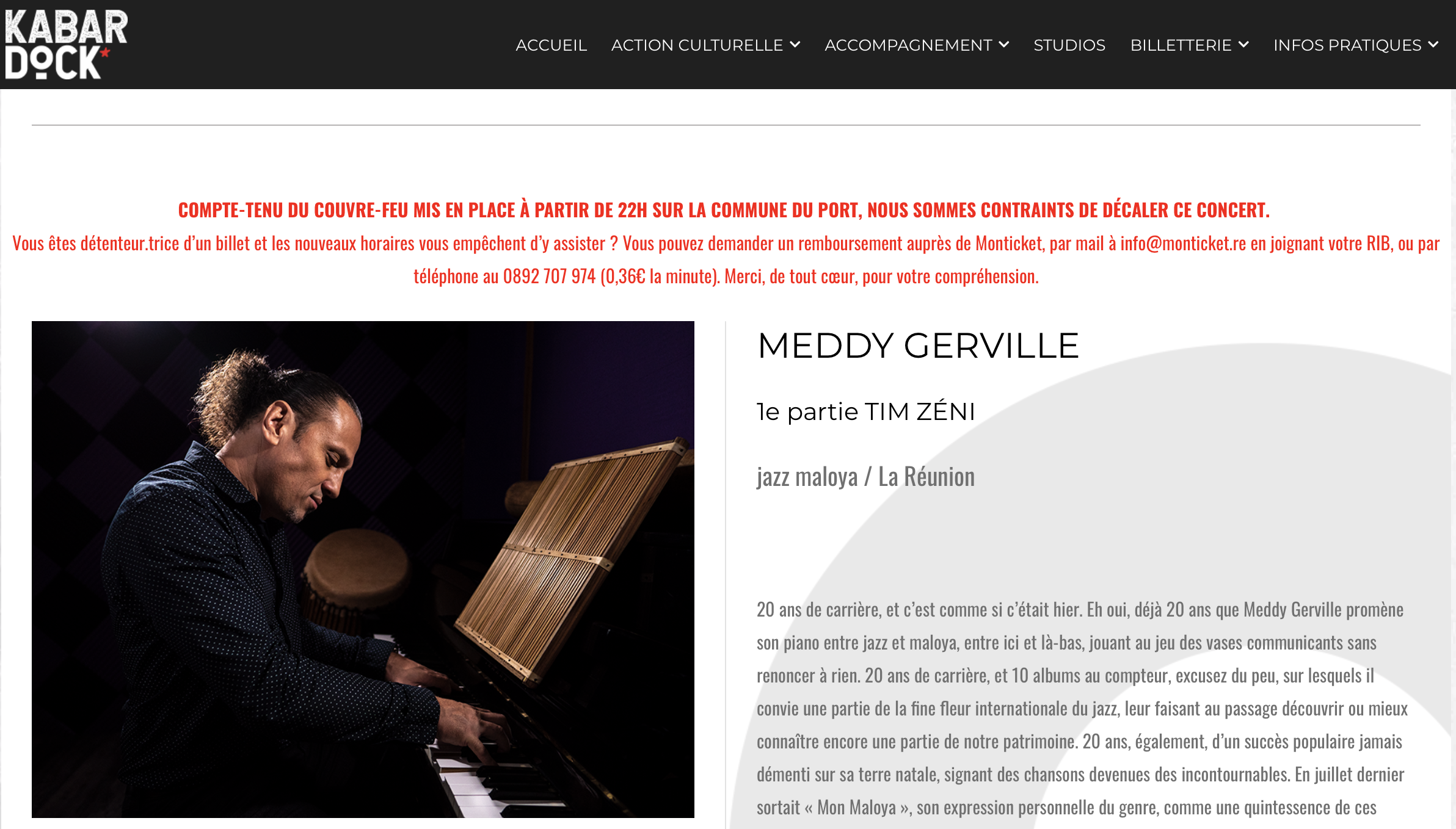 Meddy Gerville at KabarDock – Reunion Island