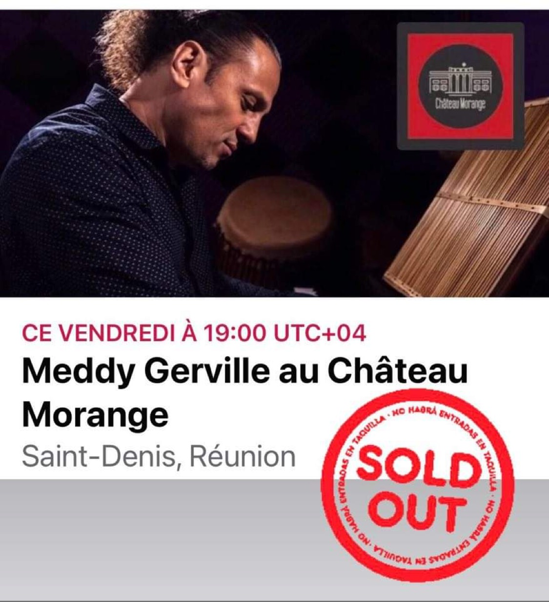 Meddy Gerville at Château Morange – Reunion Island